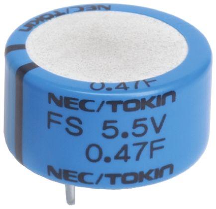 KEMET 1F Supercapacitor EDLC -20 → +80% Tolerance, Supercap FY 5.5V dc, Through Hole