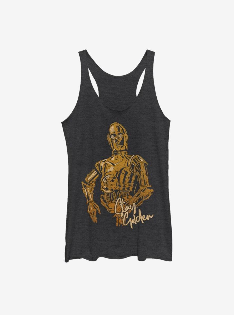 Star Wars Episode IX The Rise Of Skywalker C3PO Stay Golden Womens Tank Top