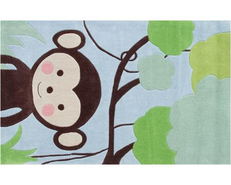 74015B 2.8 x 4.8 ft. Jungle Mania Area Rug  in