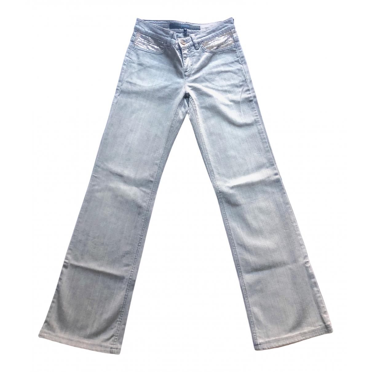 Escada - Jean   pour femme en coton - gris