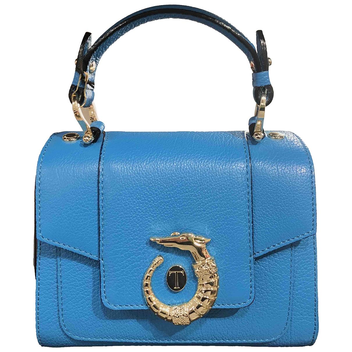 Trussardi - Sac a main   pour femme en cuir - turquoise