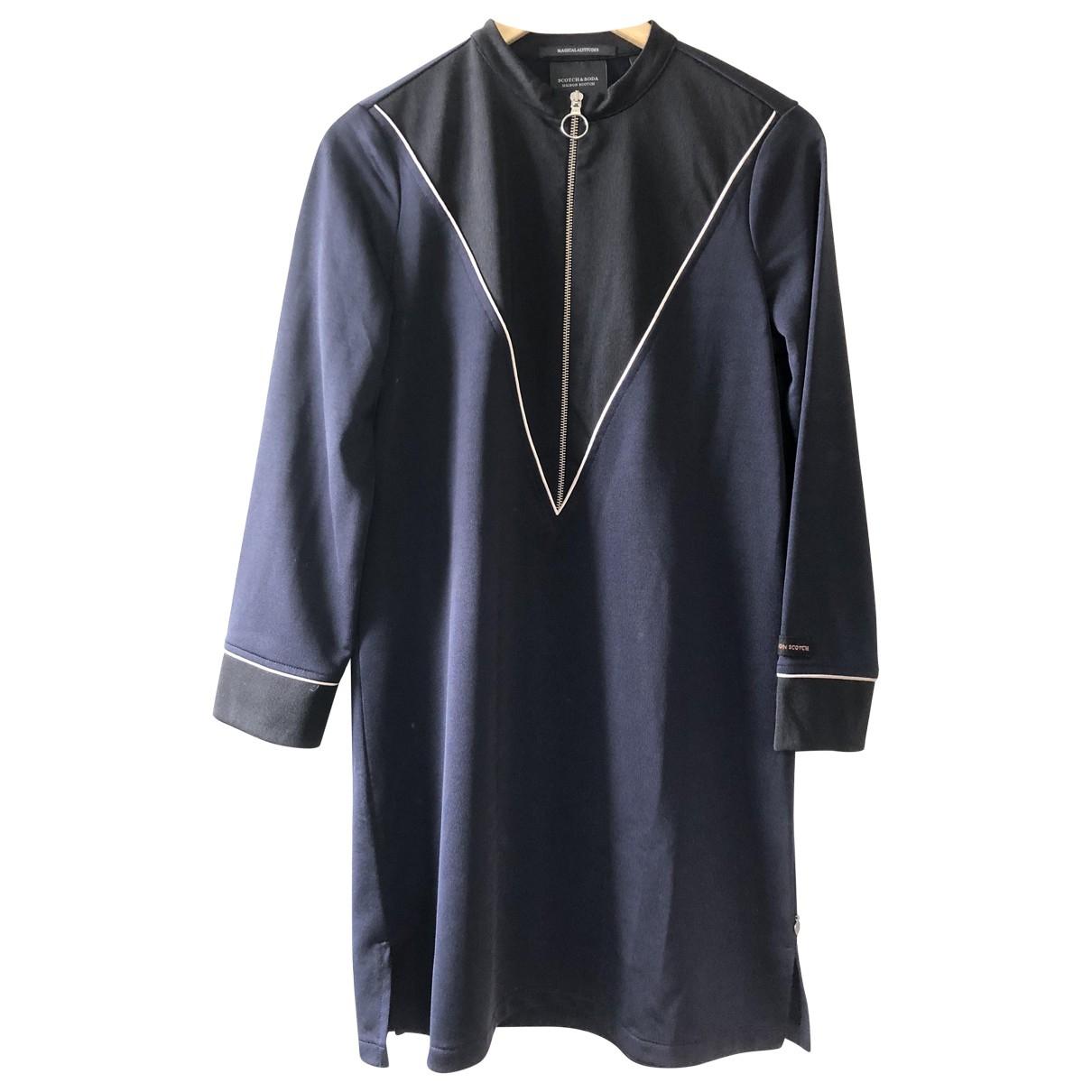 Scotch & Soda \N Kleid in  Blau Polyester