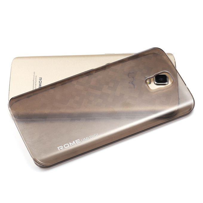 PU Protective Cover Back Clear Case Brand New Hard Case for UMI Rome UMI ROME X Smartphone - Gray