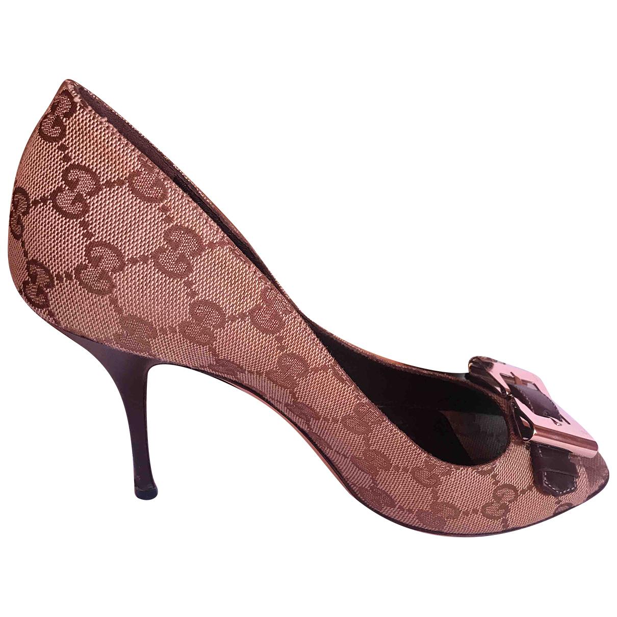 Gucci - Sandales   pour femme en toile - marron