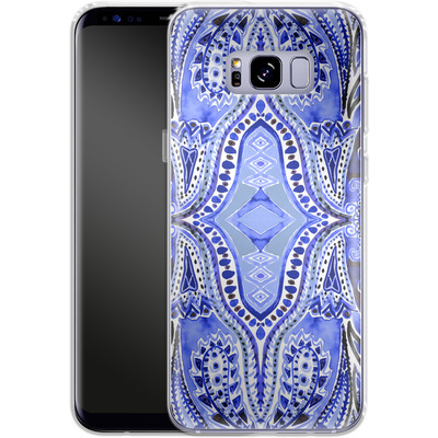 Samsung Galaxy S8 Plus Silikon Handyhuelle - Paisley Blue von Amy Sia