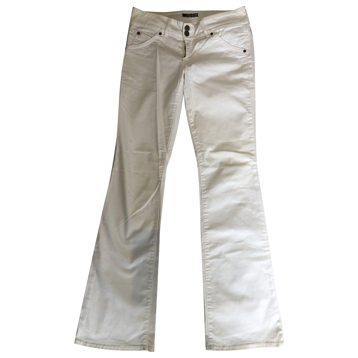 Hudson \N White Cotton - elasthane Jeans for Women 28 US