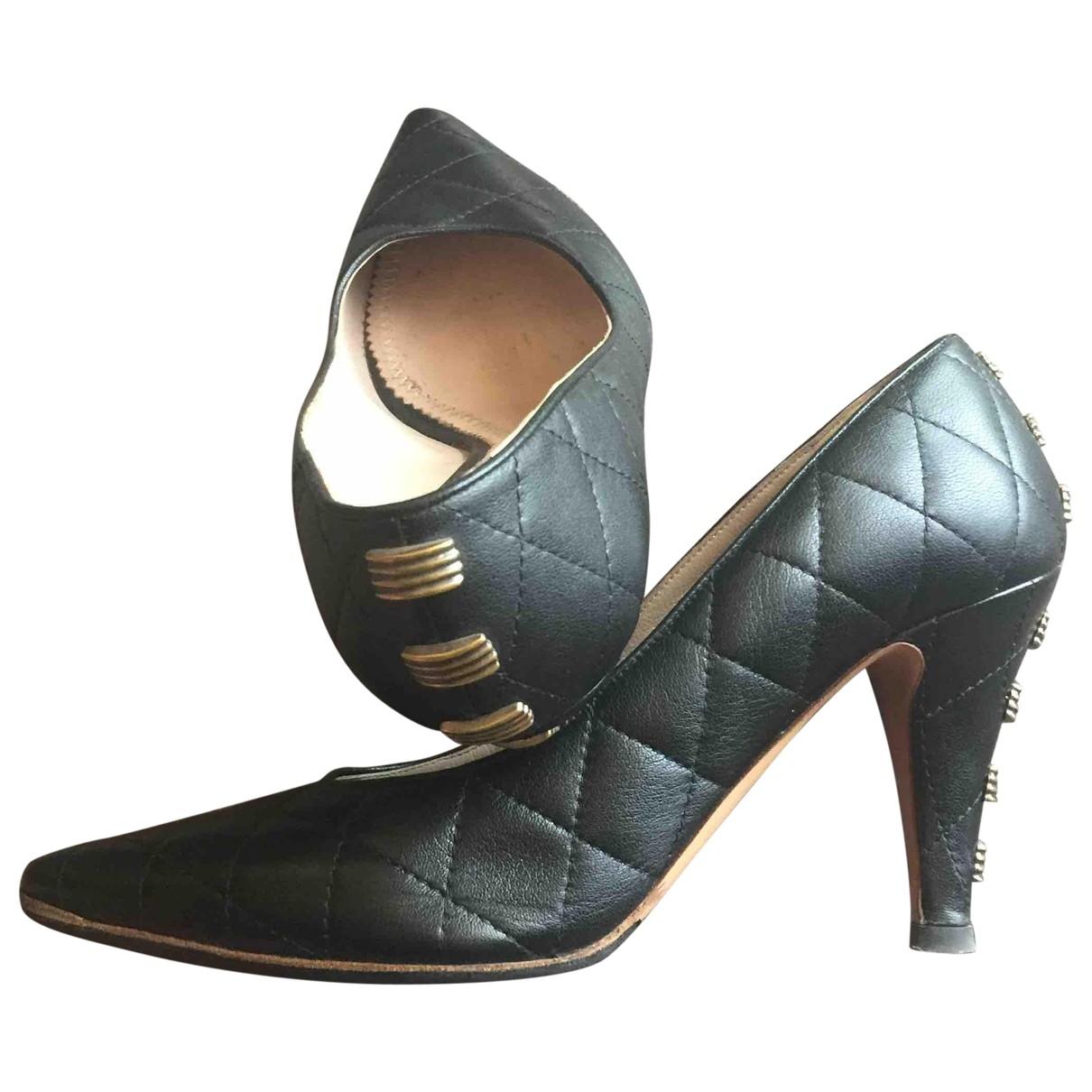 Chloe - Escarpins   pour femme en cuir - noir