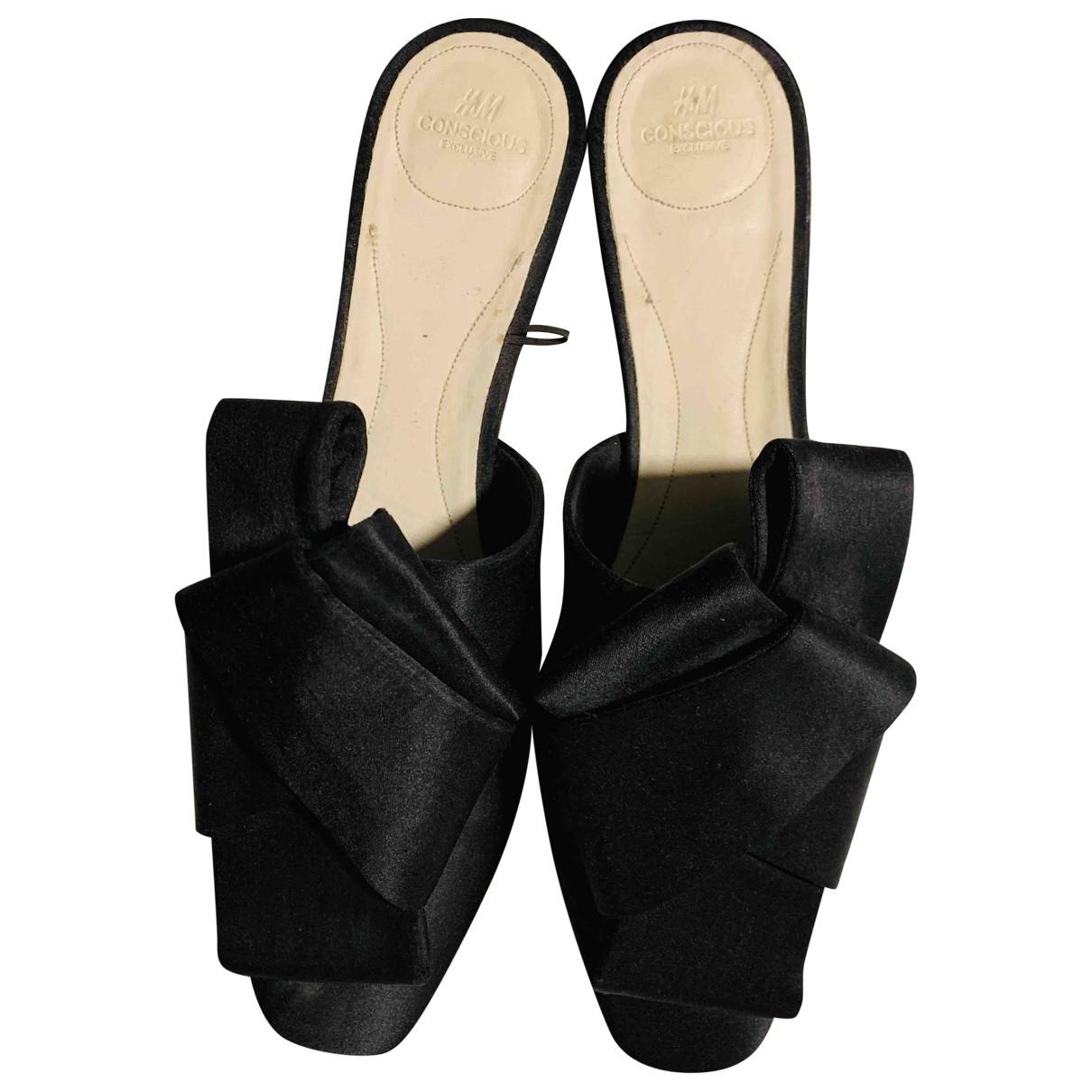 Hm Conscious Exclusive - Sabots   pour femme en toile - noir