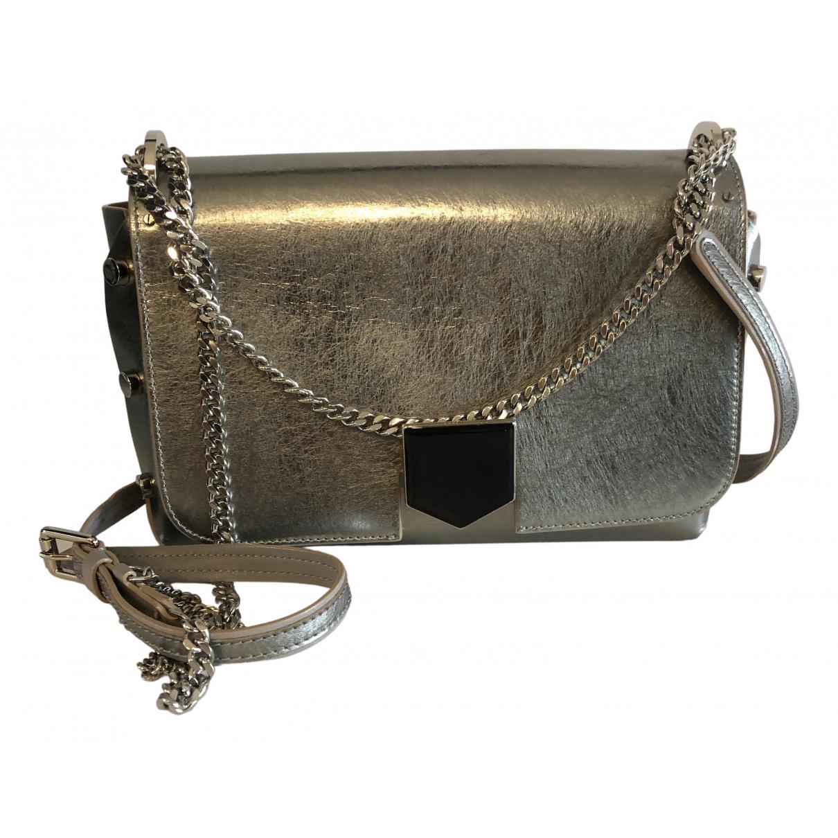 Jimmy Choo Lockett Silver Leather handbag for Women N