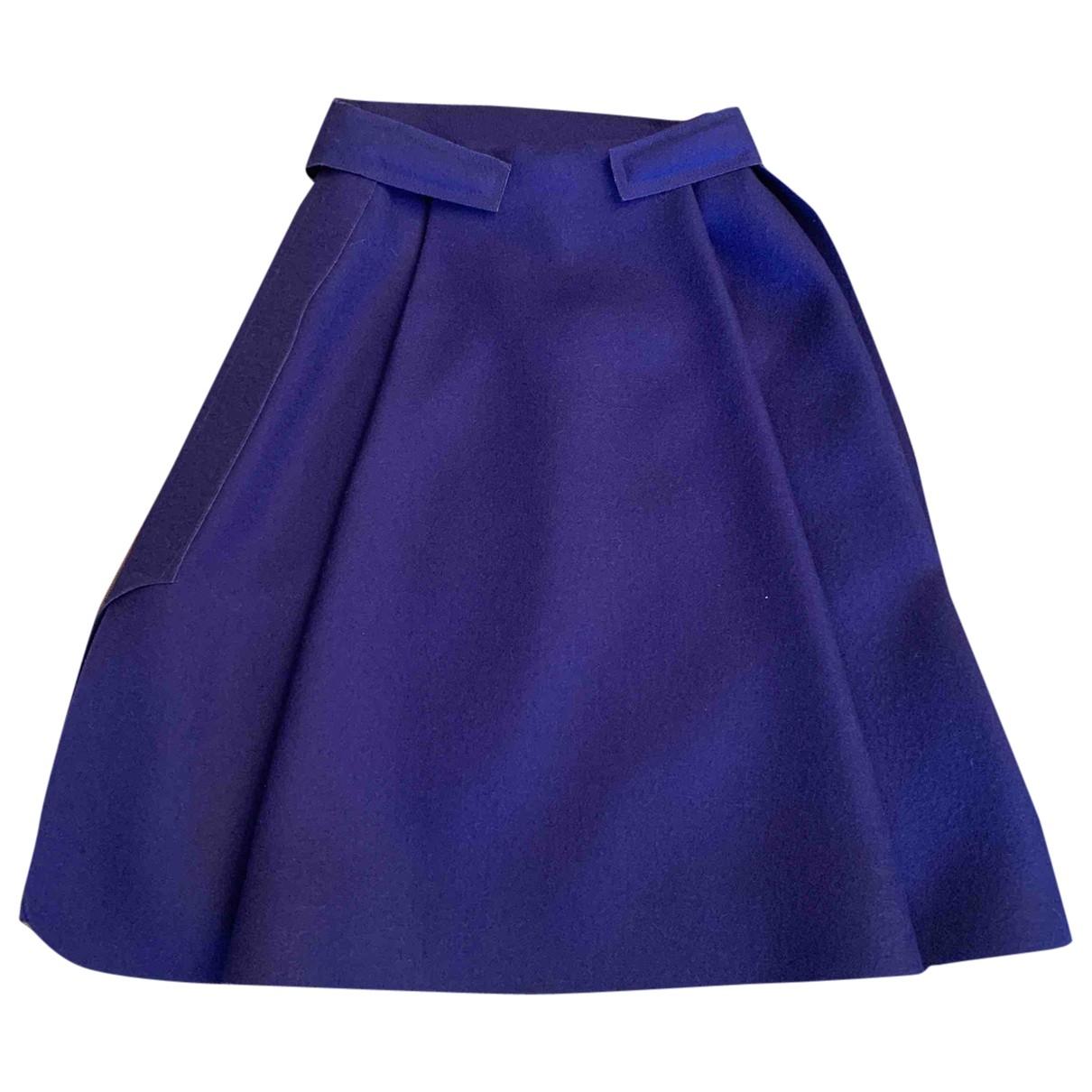 Balenciaga - Jupe   pour femme en laine - bleu