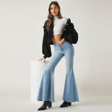 BLUES ausgestellte Jeans mit hoher Taille