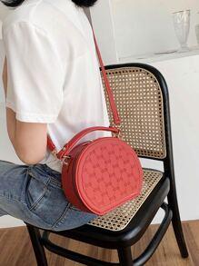 Round Satchel Bag