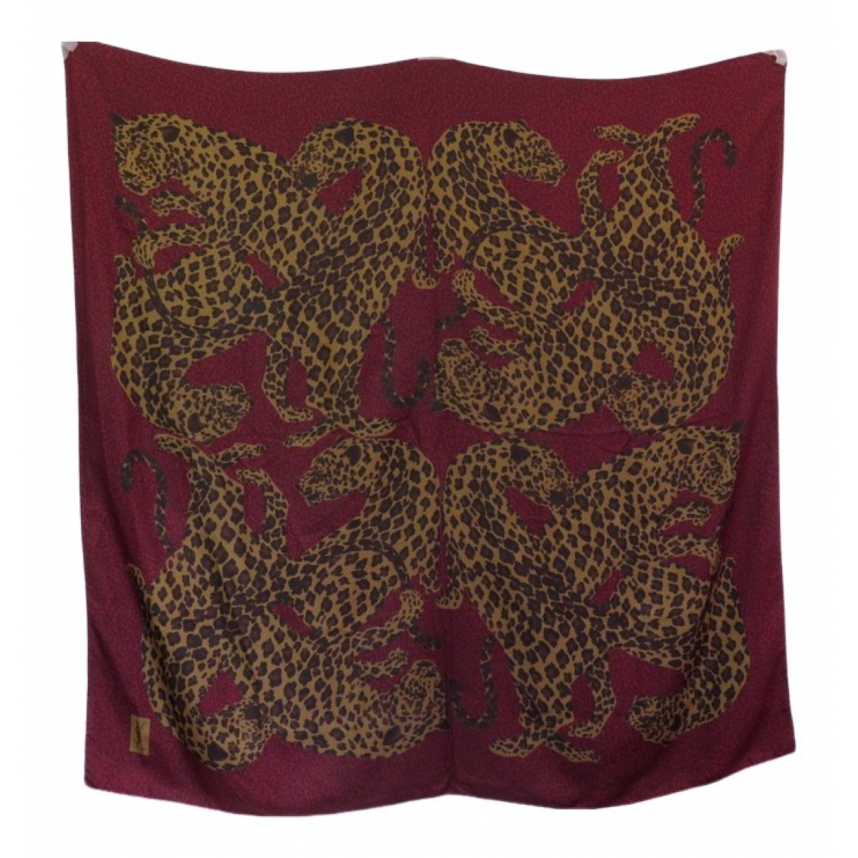 Yves Saint Laurent \N Burgundy Silk scarf for Women \N