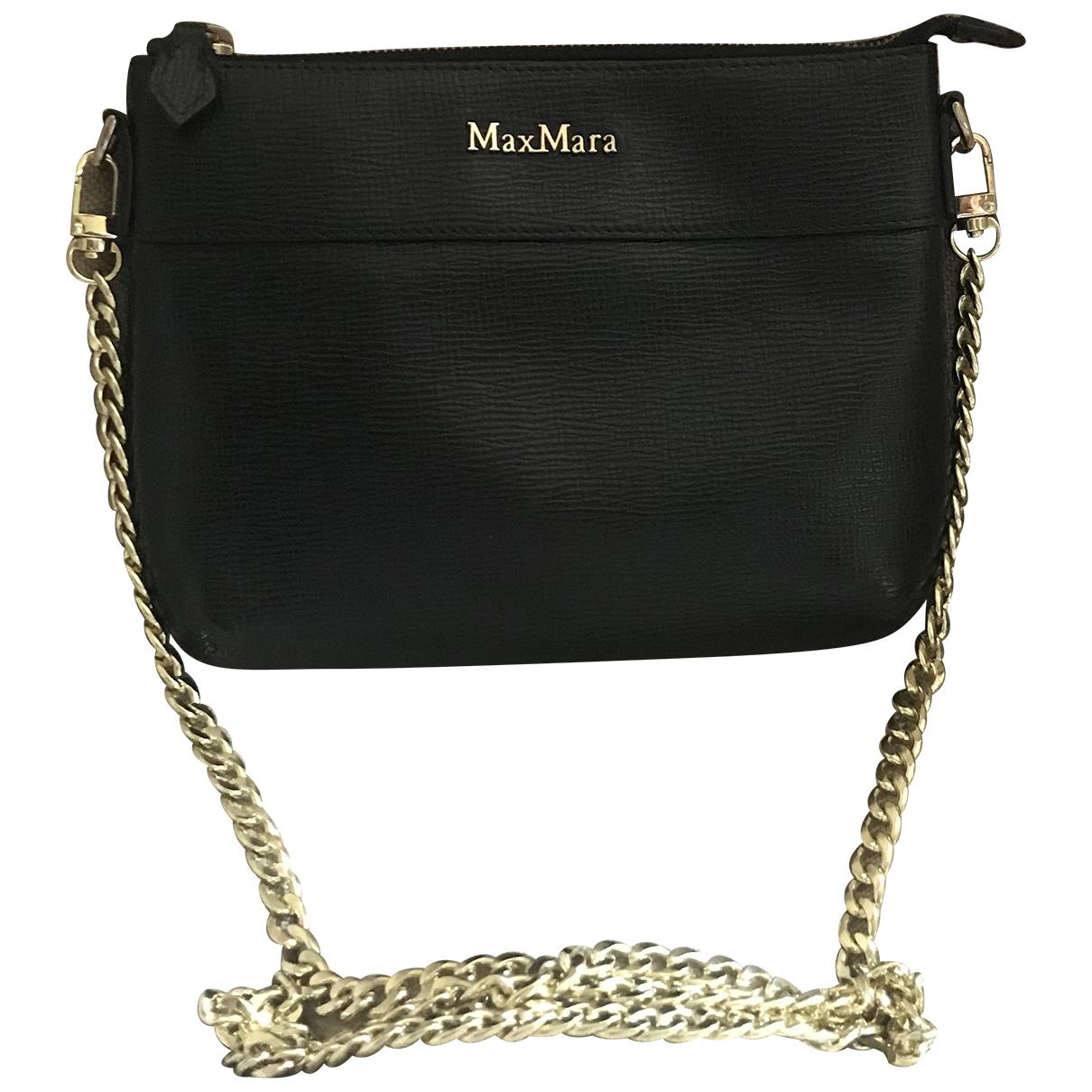 Max Mara \N Black Leather handbag for Women \N