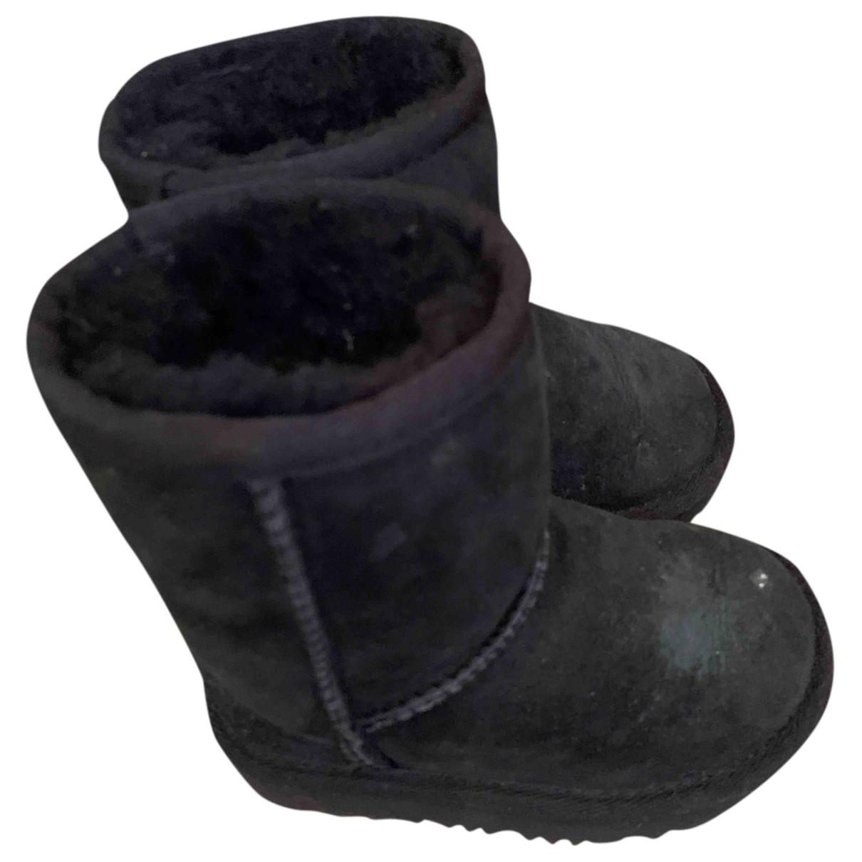 Ugg - Bottes.Bottines   pour enfant en cuir - noir