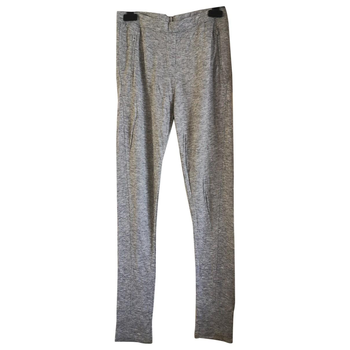 Sandro \N Grey Trousers for Women 38 FR