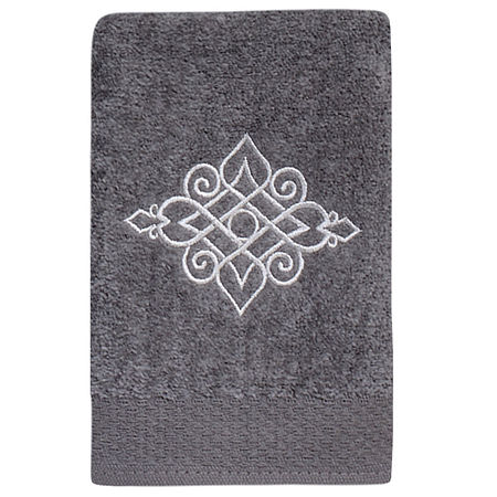 Avanti Riverview Embroidered Bath Towel Collection, One Size , Gray