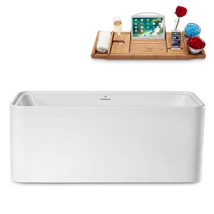 N2002ROB 59 Freestanding Tub and Tray With Internal Drain in