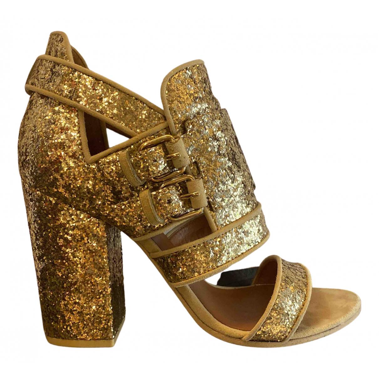 Givenchy - Sandales   pour femme en a paillettes - dore