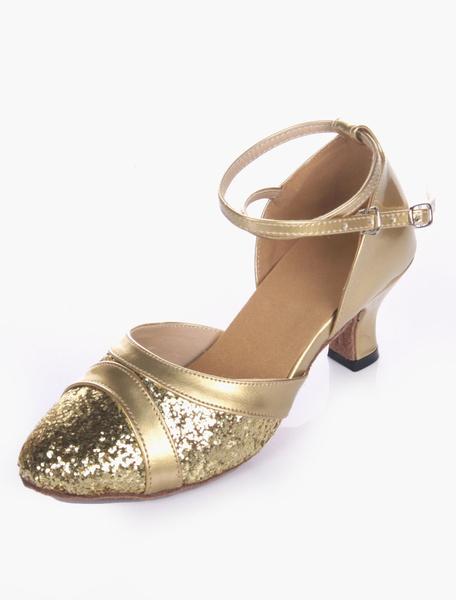 Milanoo Brillo suave unica almendra salon de baile zapatos