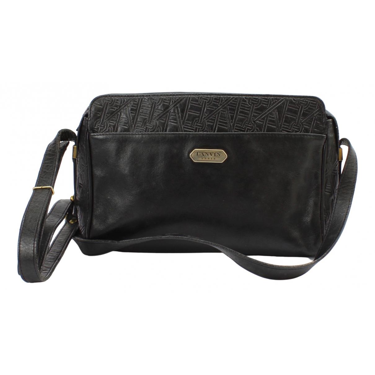 Lanvin \N Handtasche in  Schwarz Leder