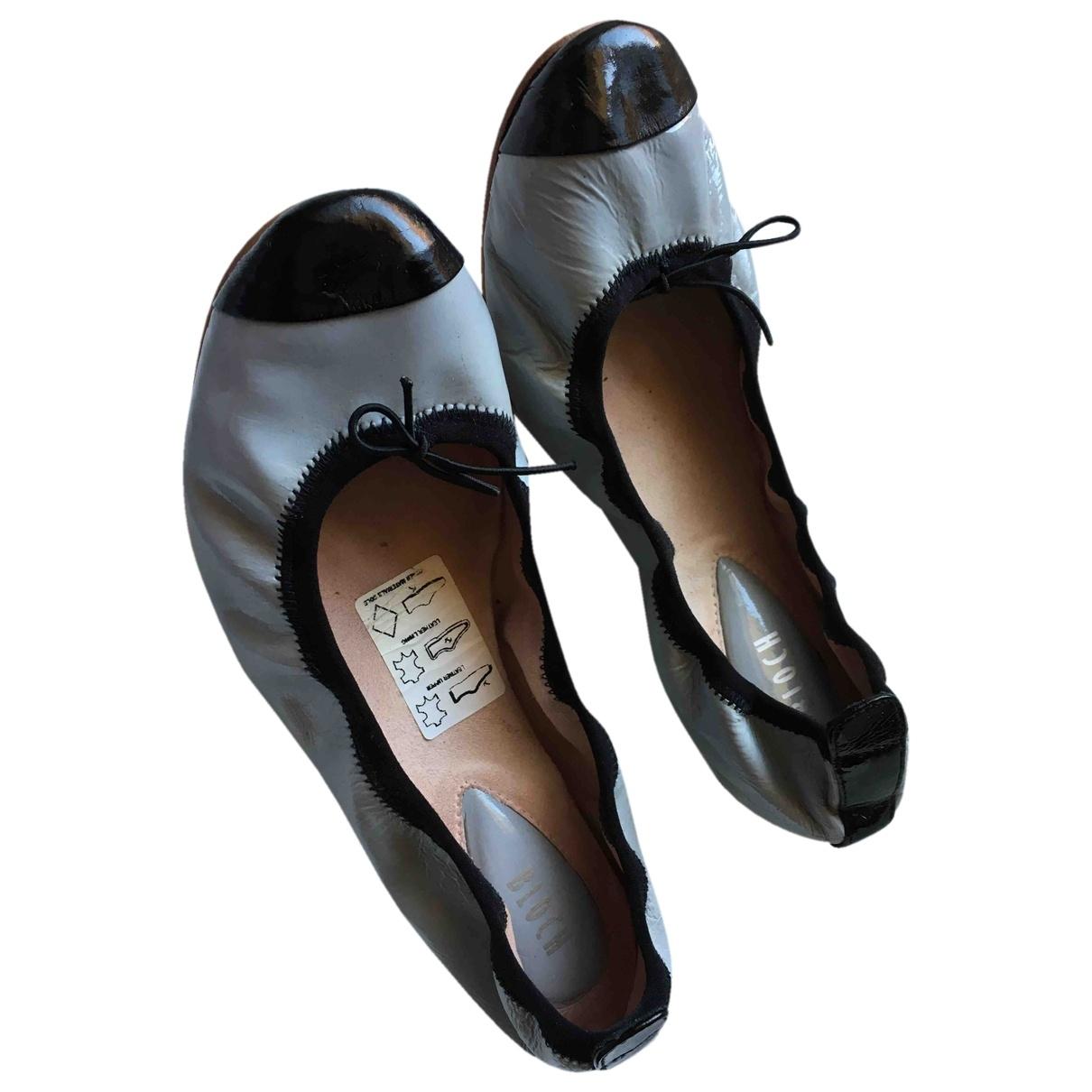 Bloch \N Ballerinas in  Grau Leder