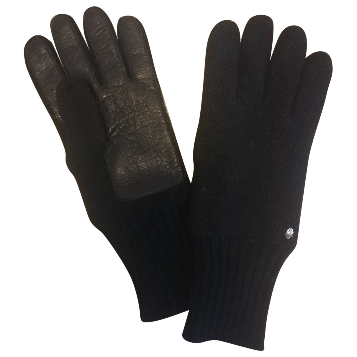 Class Cavalli \N Handschuhe in  Schwarz Wolle