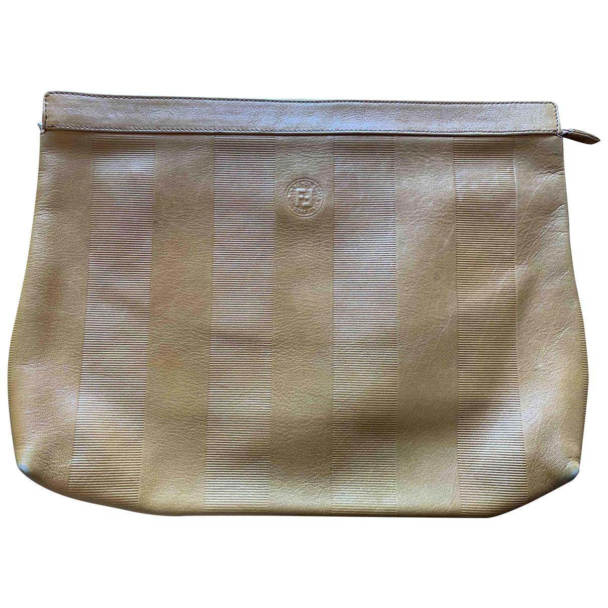 Fendi \N Brown Leather Clutch bag for Women \N