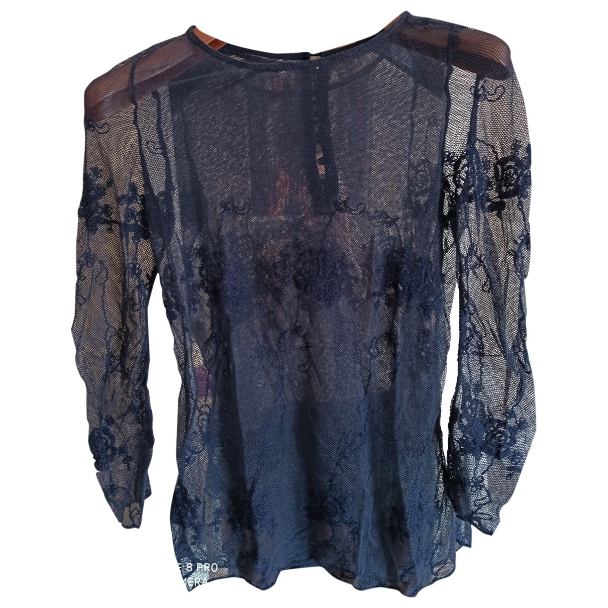 Non Signe / Unsigned \N Top in  Blau Polyester