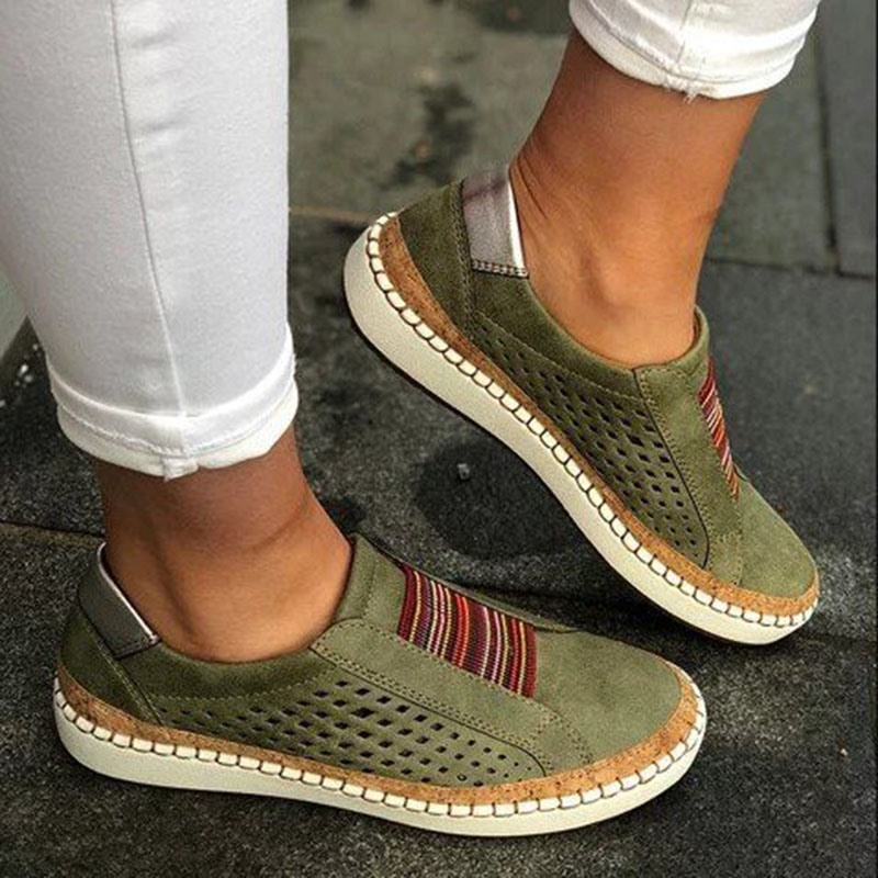 Ericdress Round Toe Slip-On Thread Low-Cut Upper Thin Shoes