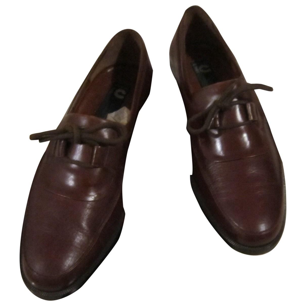Charles Jourdan - Mocassins   pour homme en cuir - marron