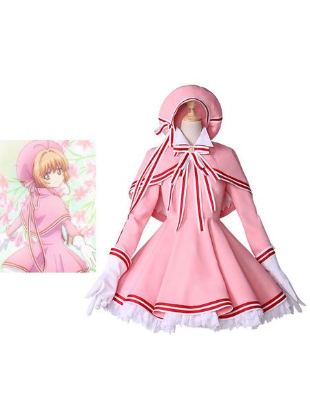 Milanoo Cardcaptor Sakura Clear Card Kinomoto Sakura Kawaii Lolita Outfit Cosplay Costume