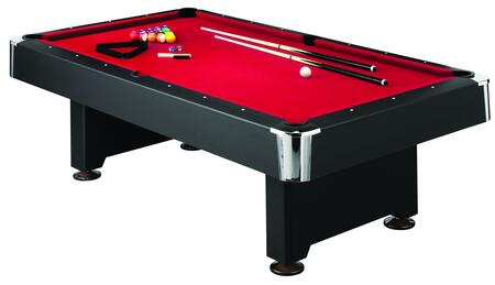 P5223W2 Slatron Pool Bed Billiard Table with an Accessory Kit - 2 Cues  a Set of Balls  a Triangle  a Brush  and 2