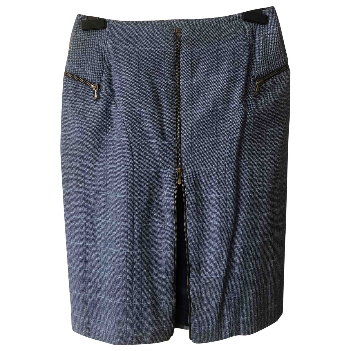 Dior \N Blue Wool skirt for Women 38 FR
