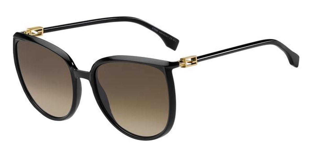 Fendi FF 0432/G/S 807/HA Women's Sunglasses Black Size 59