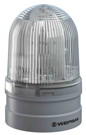 Werma EvoSIGNAL Midi White LED Beacon, 12 V, 24 V, Base-Mounted