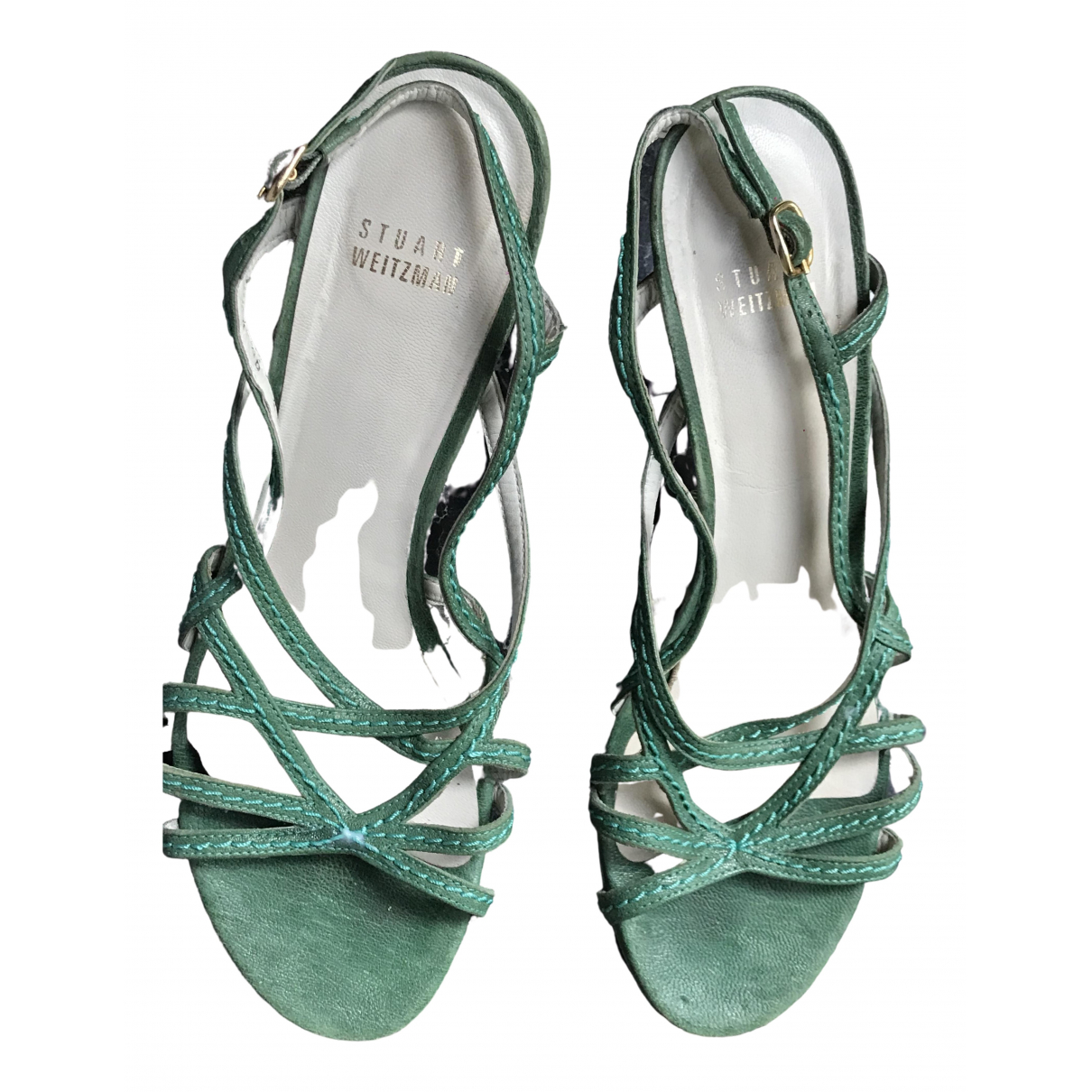 Stuart Weitzman \N Turquoise Leather Sandals for Women 9 US