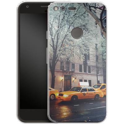 Google Pixel Silikon Handyhuelle - NYC Yellow Cabs von Omid Scheybani