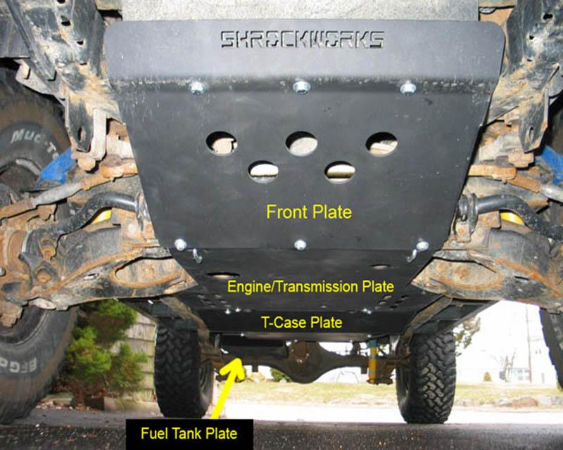 ShrockWorks NXTR1-SKID-FRNT-01A Front Skid Plate Nissan Frontier   Xterra 99-04