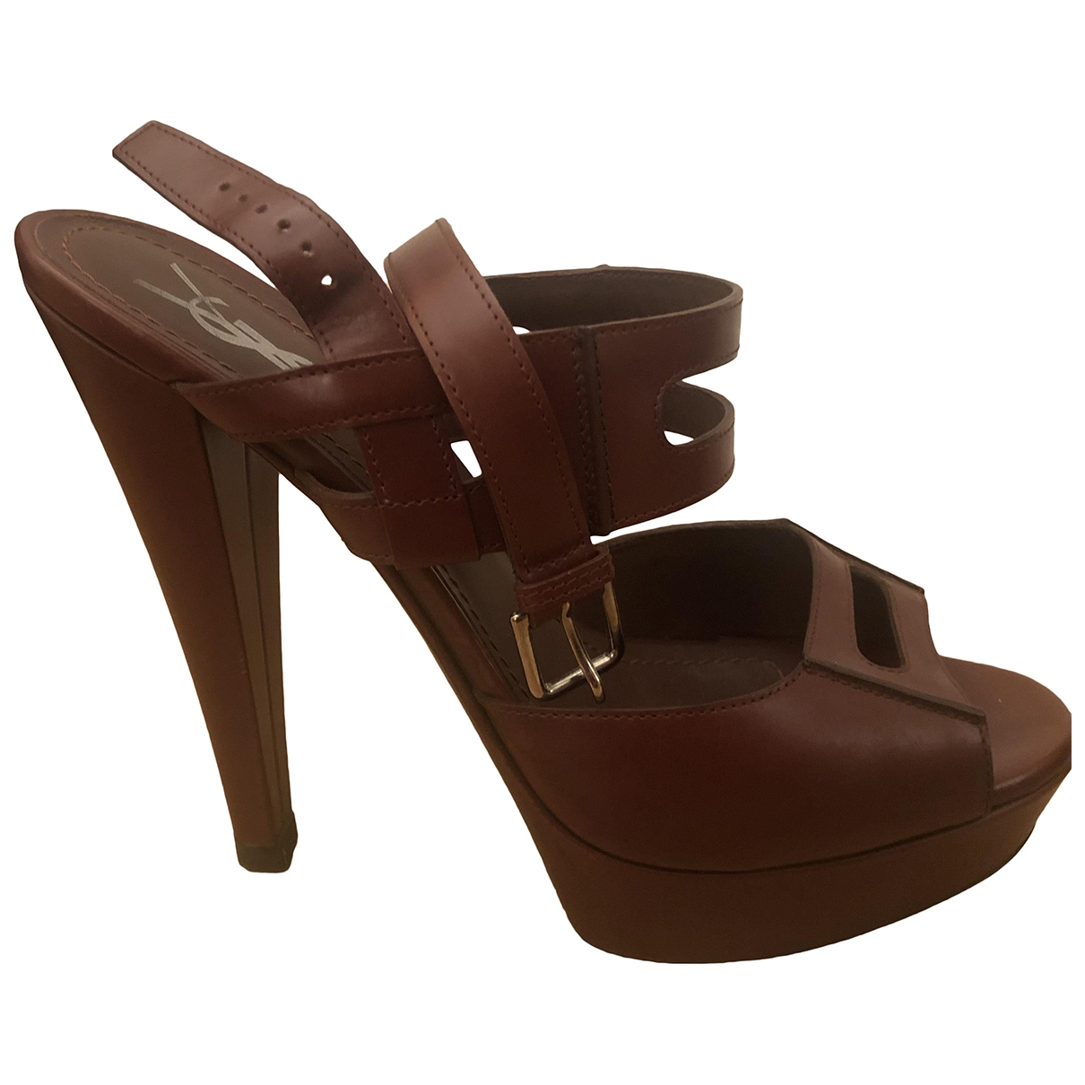Yves Saint Laurent \N Brown Leather Sandals for Women 39 EU