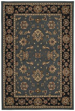A623H3120180ST 4' X  6' Rectangle Rug with Floral Pattern and PolypropyleneFiber