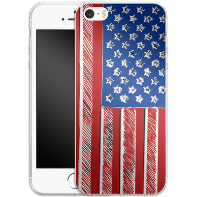 Apple iPhone 5 Silikon Handyhuelle - American Flag Colour von caseable Designs