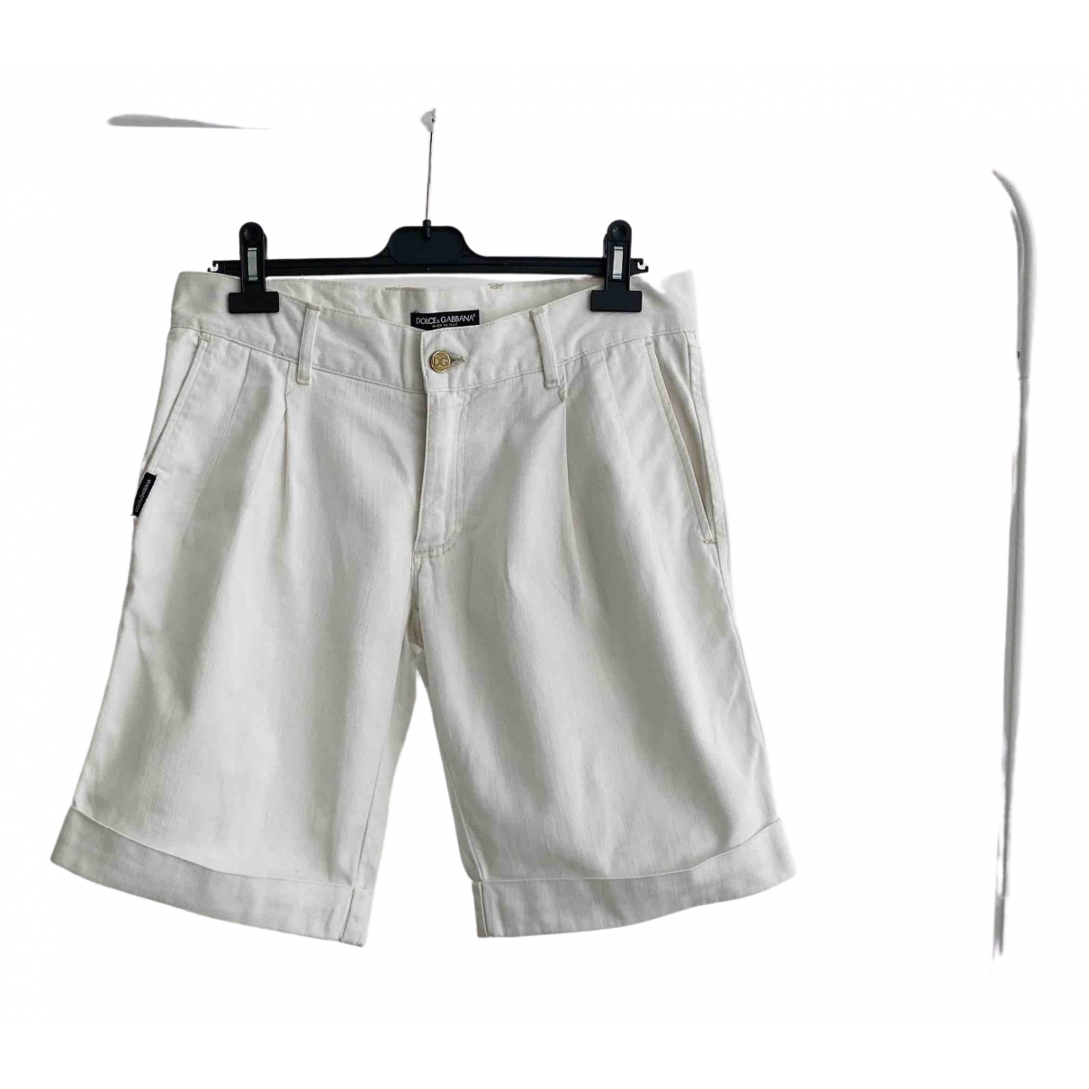 Dolce & Gabbana \N White Cotton Shorts for Men 48 IT