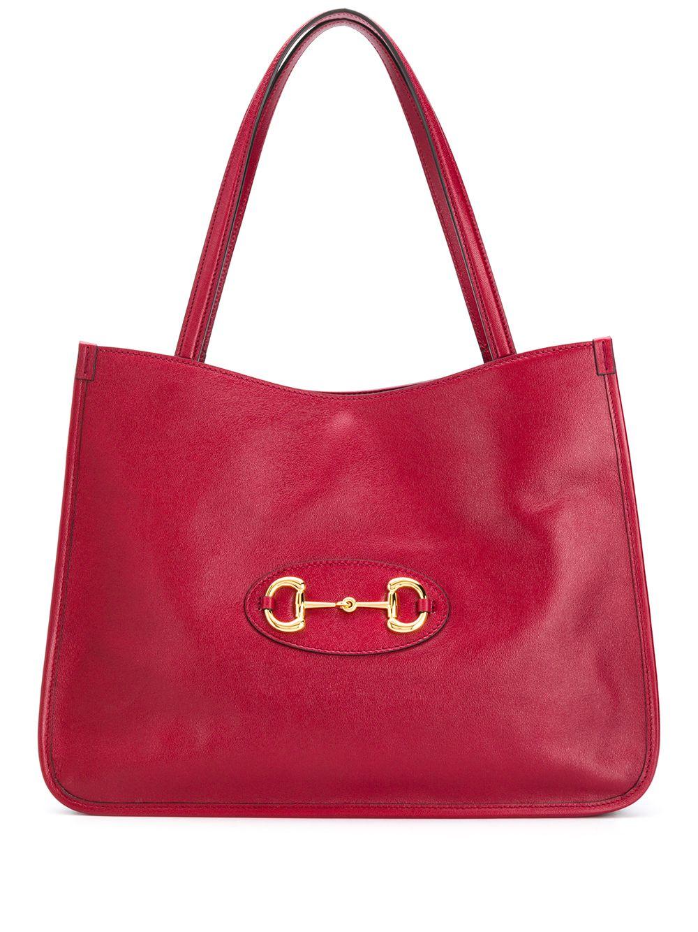 Horsebit Leather Shoulder Bag