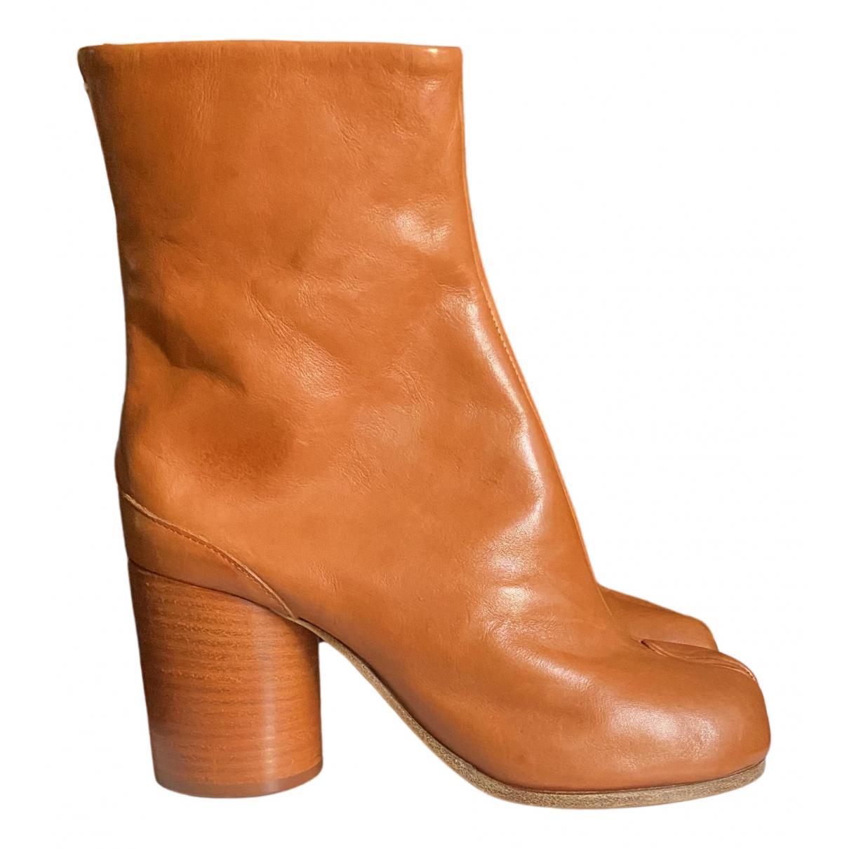 Maison Martin Margiela - Boots Tabi pour femme en cuir - camel