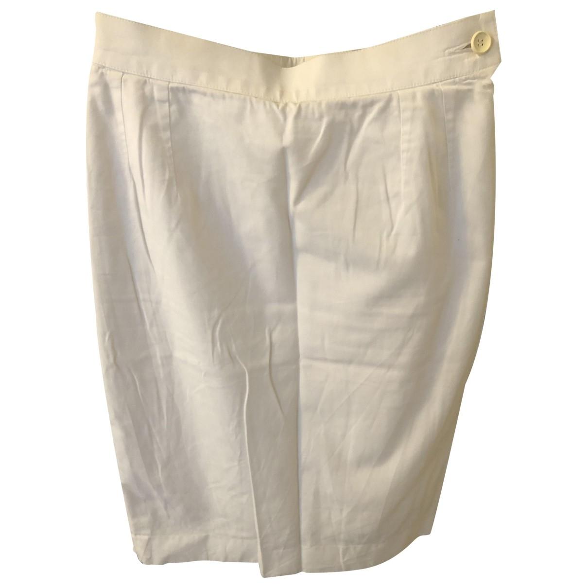Yves Saint Laurent - Jupe   pour femme en coton - blanc