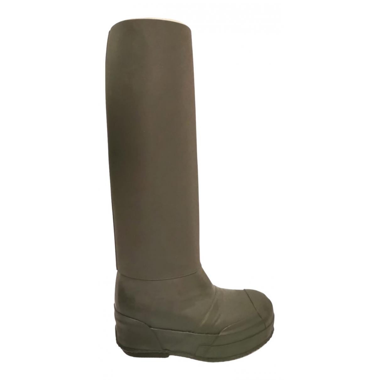 Celine Planet Black Rubber Boots for Women 36 EU