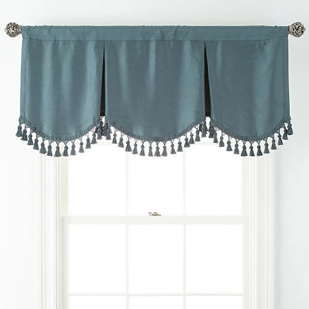 JCPenney Home Supreme Rod-Pocket Frontenac Valance, One Size , Blue