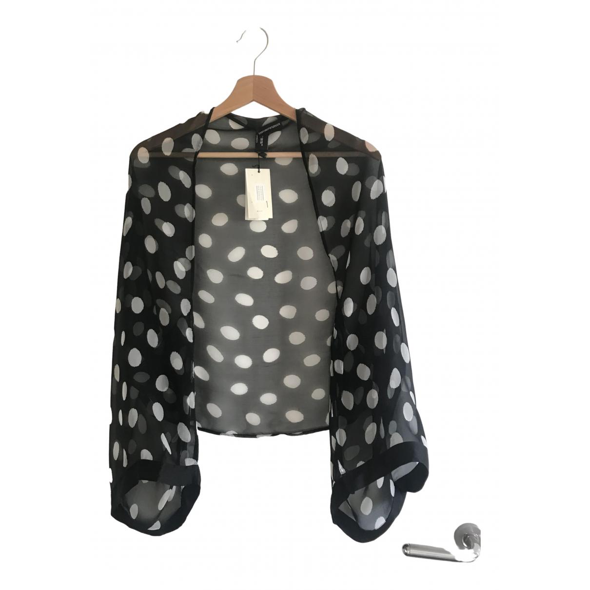 Emporio Armani - Foulard   pour femme en soie - noir
