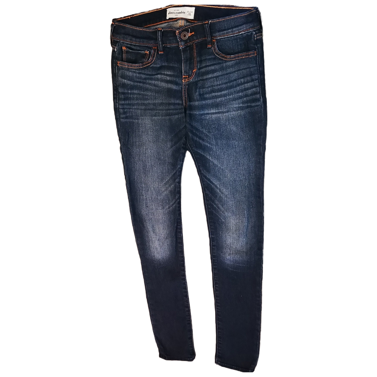 Abercrombie & Fitch \N Blue Cotton Trousers for Kids 16 years - M UK